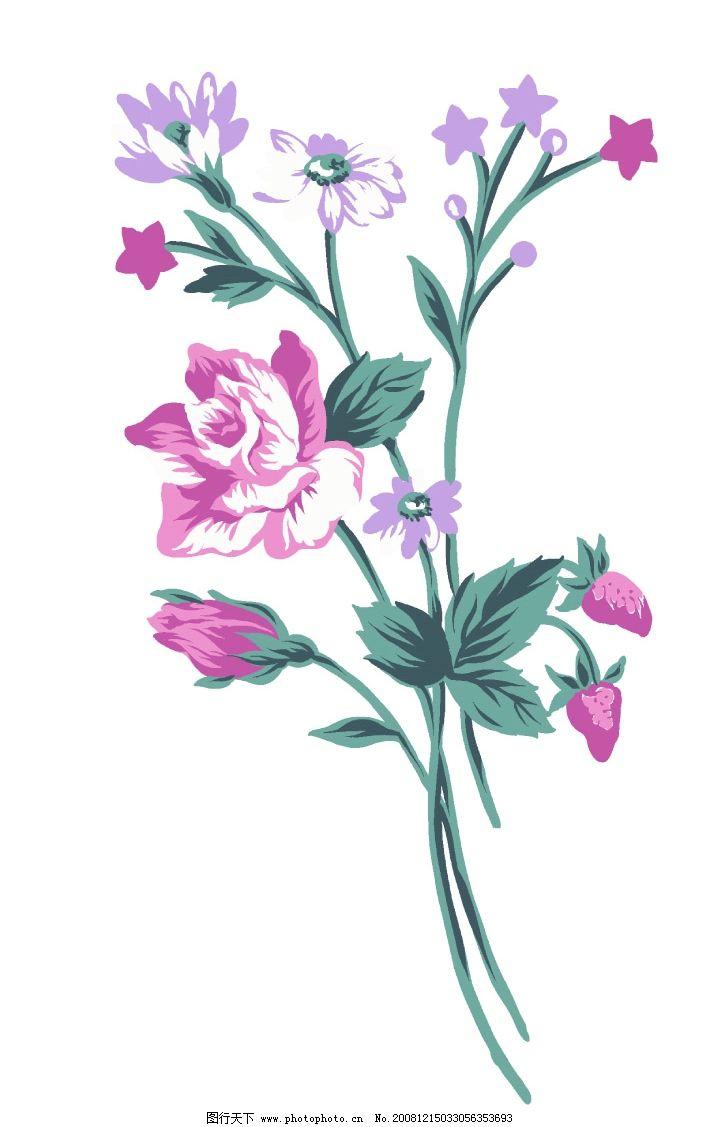 彩绘花卉 彩绘 花卉 手绘花卉 手绘 花朵 分层花卉 花纹 psd分层素材