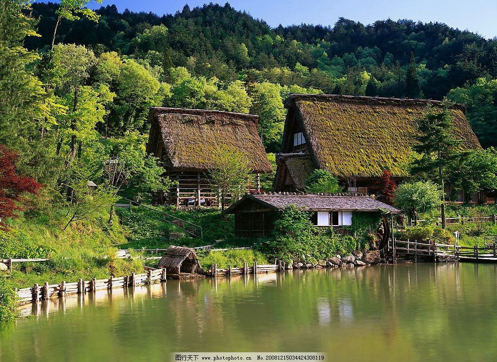 山水风景 绿树 青山 绿水 自然景观 摄影图库 300dpi jpg