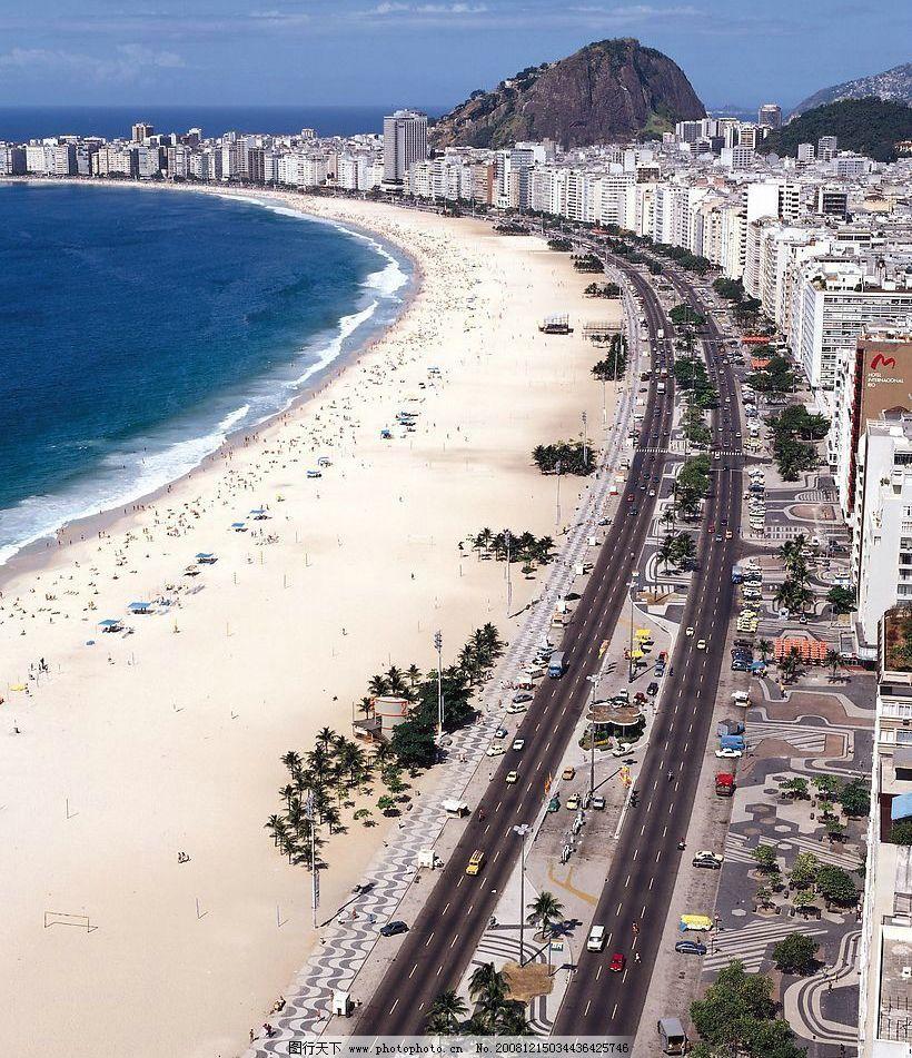 加勒比海 海 沙滩 海边城市 自然景观 山水风景 摄影图库 72dpi jpg