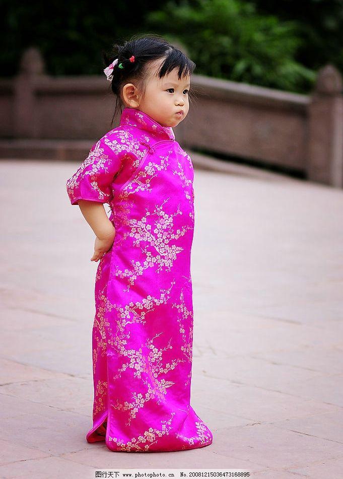 小美女 儿童写真 古装 可爱的小女孩 儿童幼儿 摄影图库