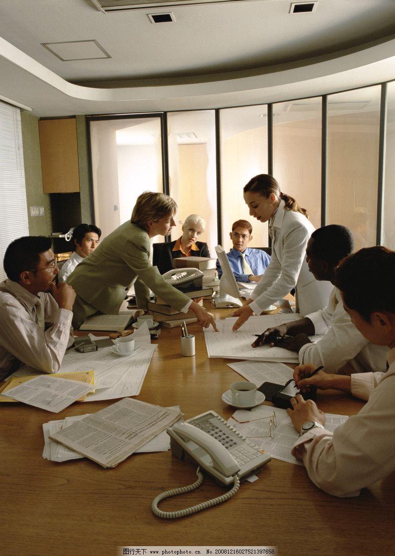 商业人物情景 商务会议