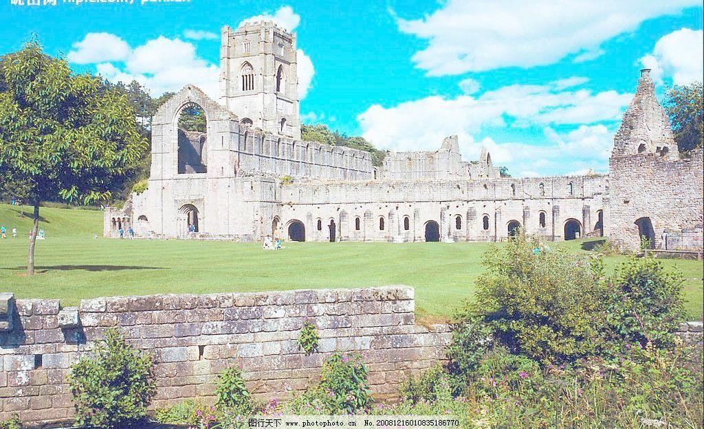 欧式建筑图片免费下载 300dpi jpg 草地 风景名胜 建筑 蓝天 欧式建筑
