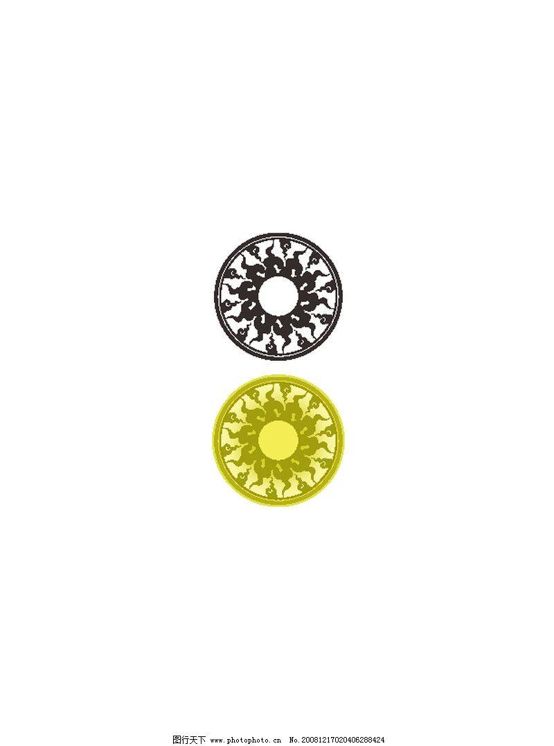 边框纹饰 圆形
