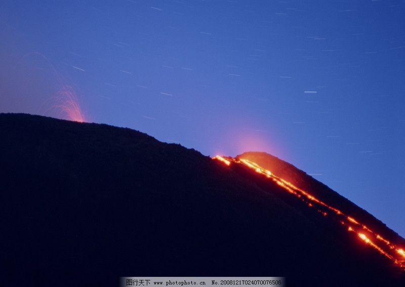闪电火山彩虹0094 自然风景