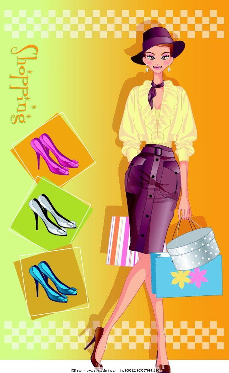 时尚购物女孩0018_其他图片素材_其他_图行天下图库