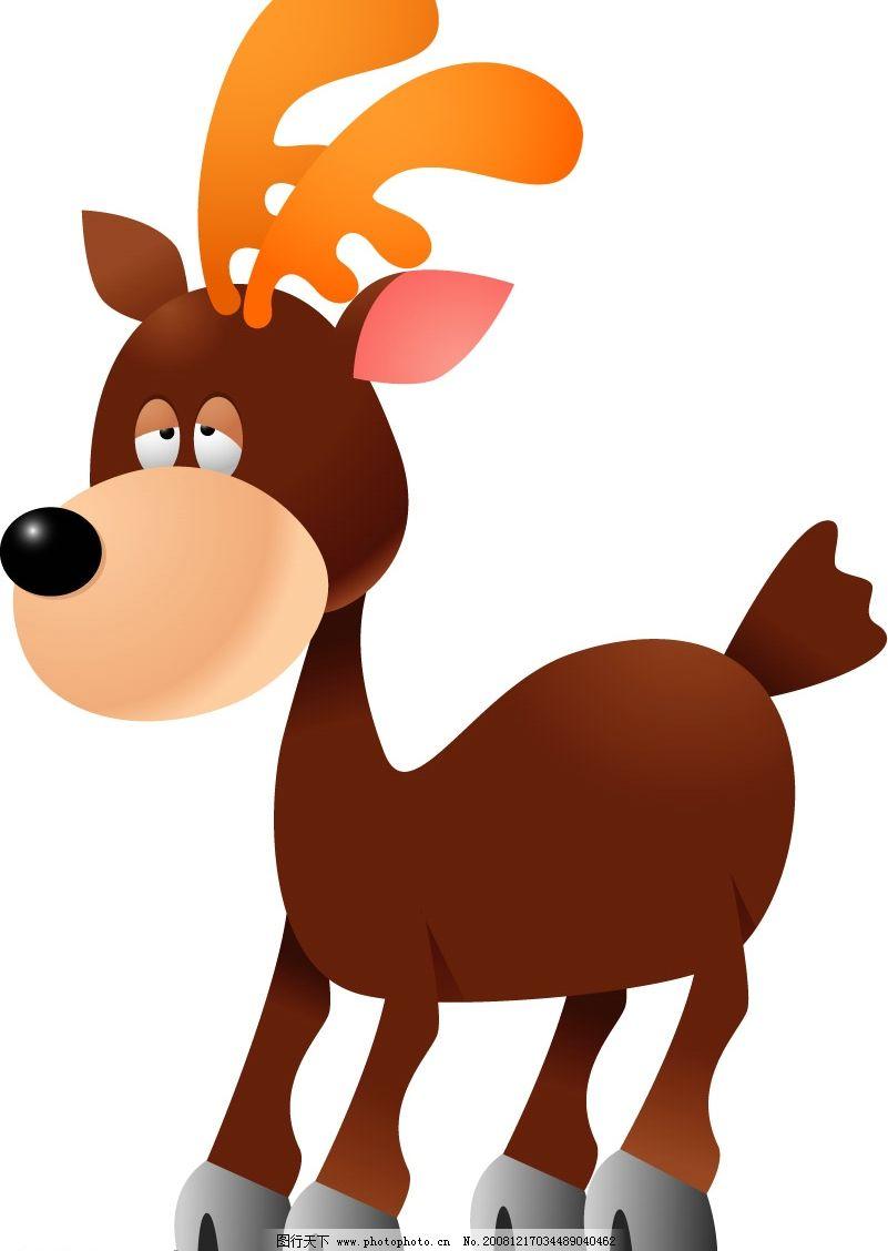 小鹿 可爱的小鹿 矢量小鹿 可爱的动物 矢量图库 可爱动物 ai