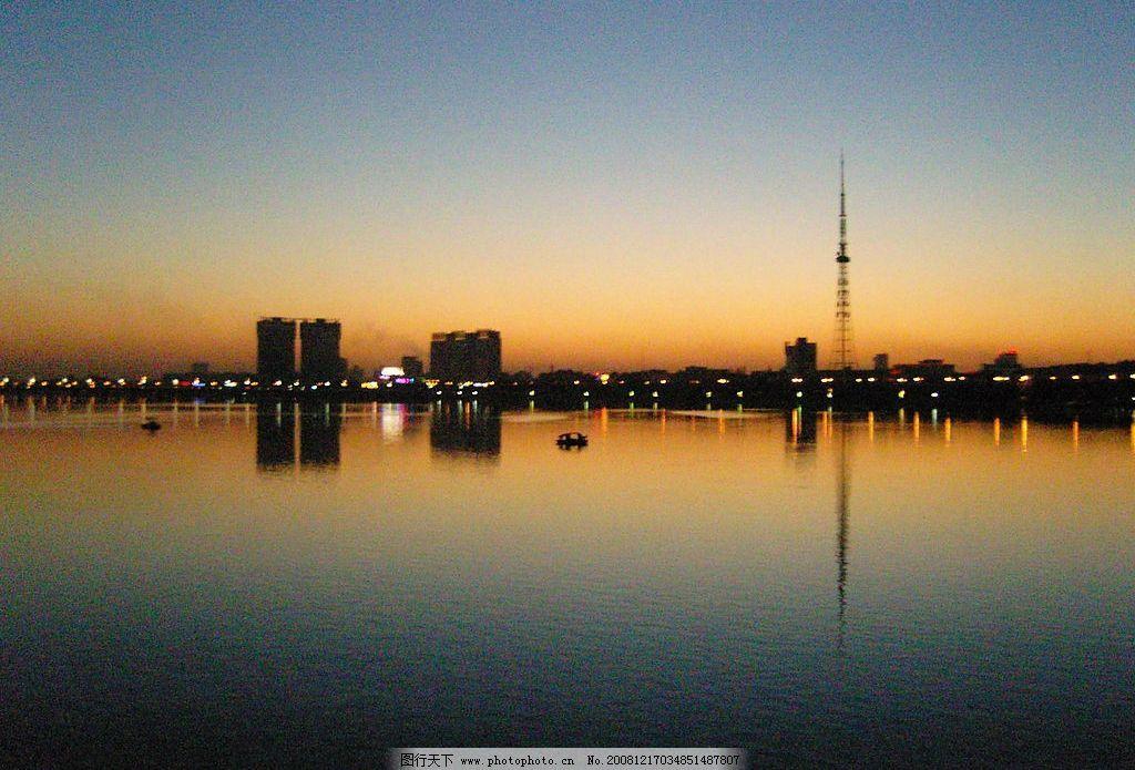 南阳白河晚霞 南阳 白河 晚霞 自然景观 自然风景 摄影图库 72dpi jpg