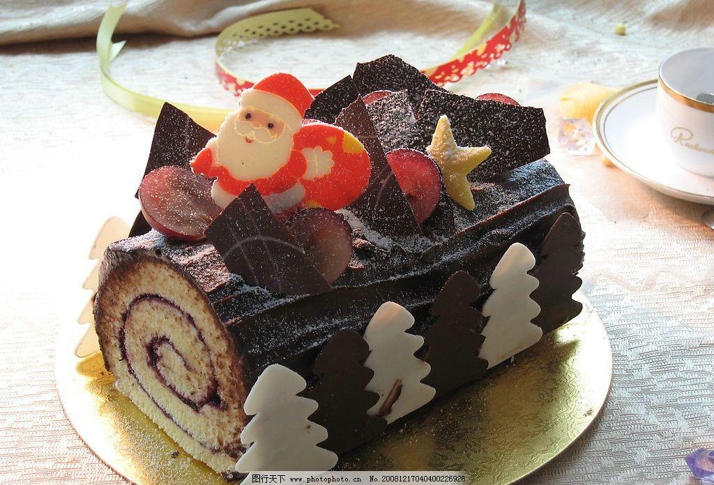 圣诞节蛋糕系列图片_食物原料_餐饮美食_图行天下图库