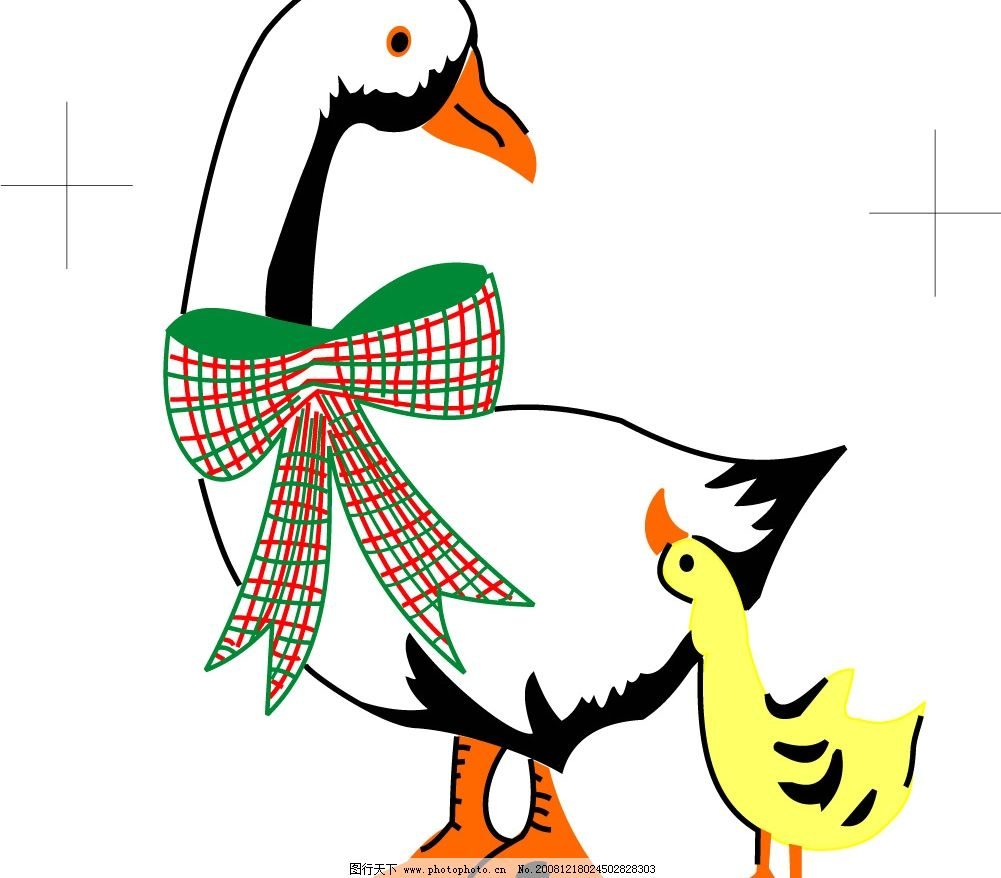 小鸭子 鸭 小鸭 生物世界 家禽家畜 矢量图库 cdr