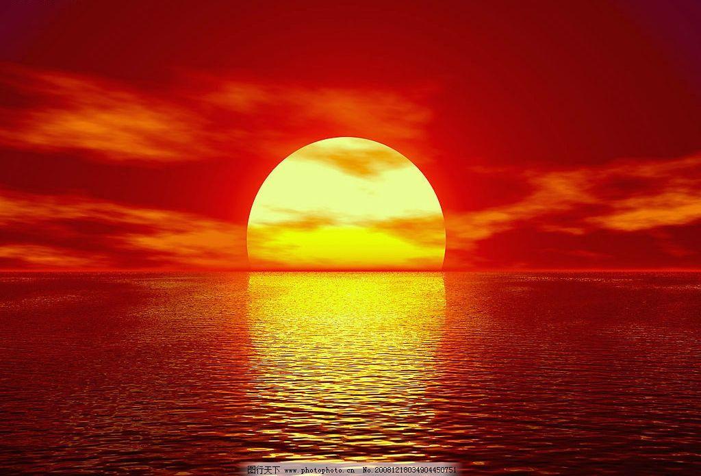 日出图片,太阳 海面 红霞 日出东方 朝阳 自然景观-图