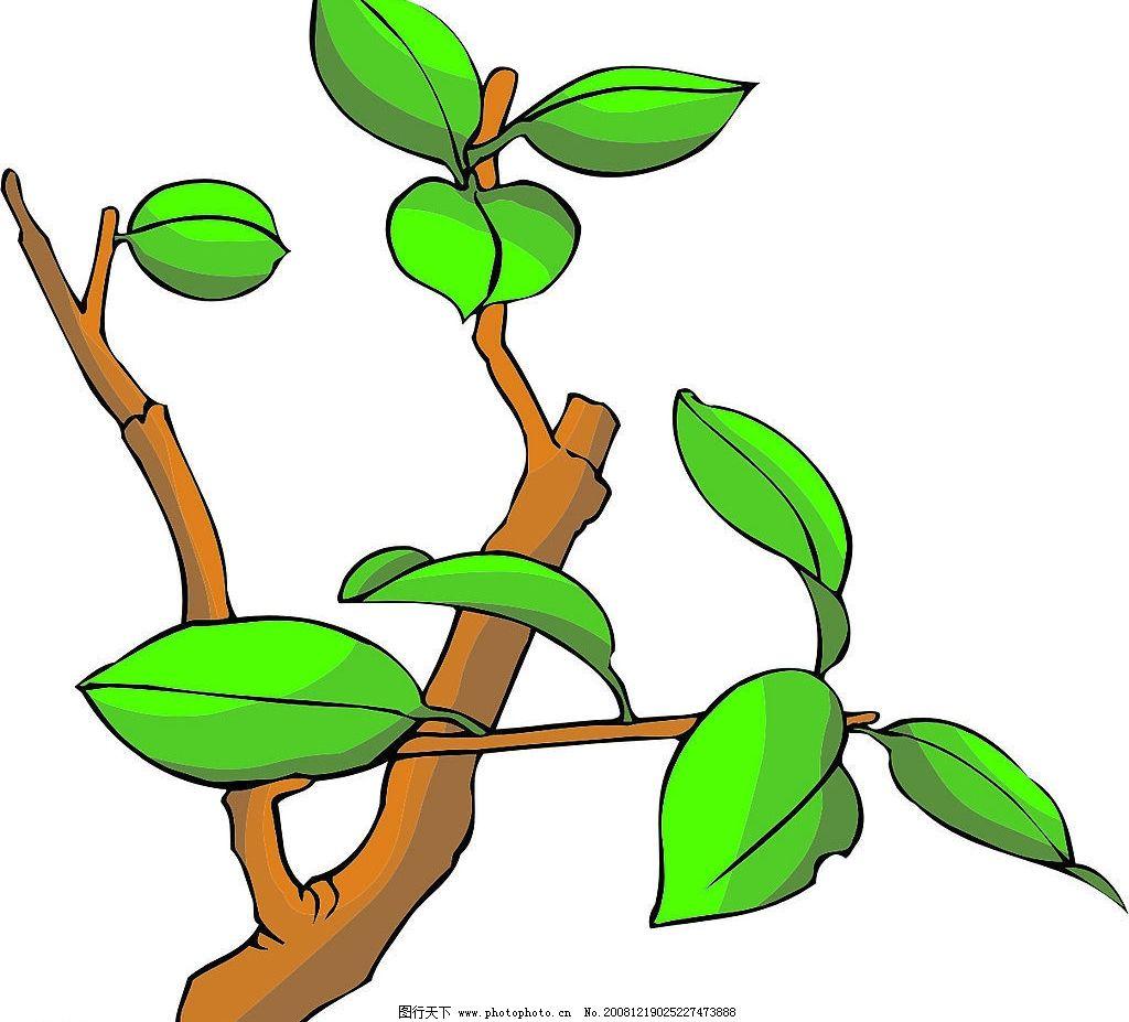植物素材 其他矢量 矢量素材 矢量图库 cdr 生物世界 树木树叶