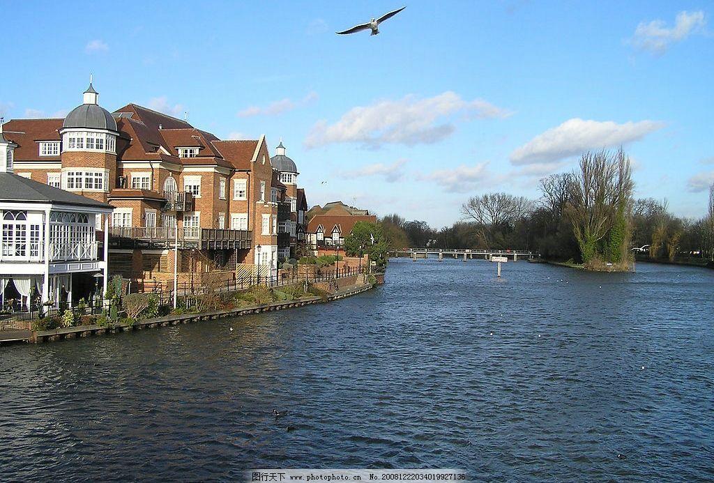 伦敦美景 泰晤士河 海鸥 伦敦 河岸 美景 欧式建筑 英国 风景 唯美