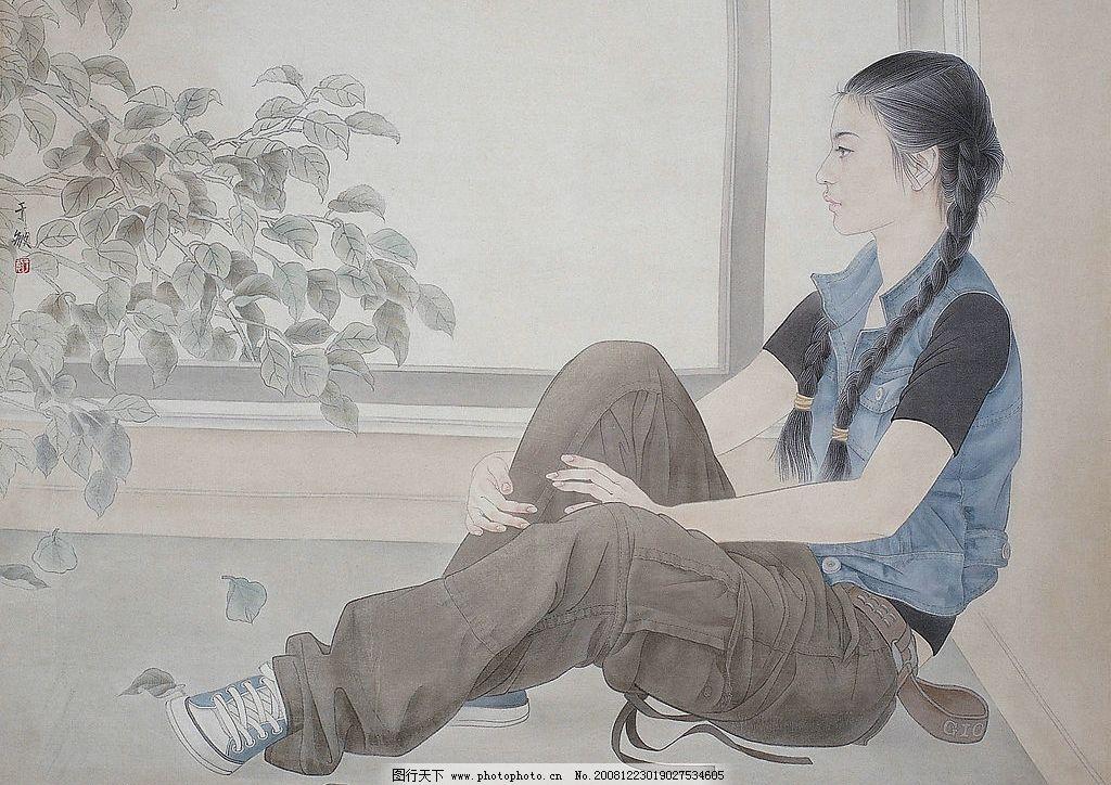 于敏工笔人物 国画 工笔 人物 仕女 文化艺术 绘画书法 设计图库 72dp
