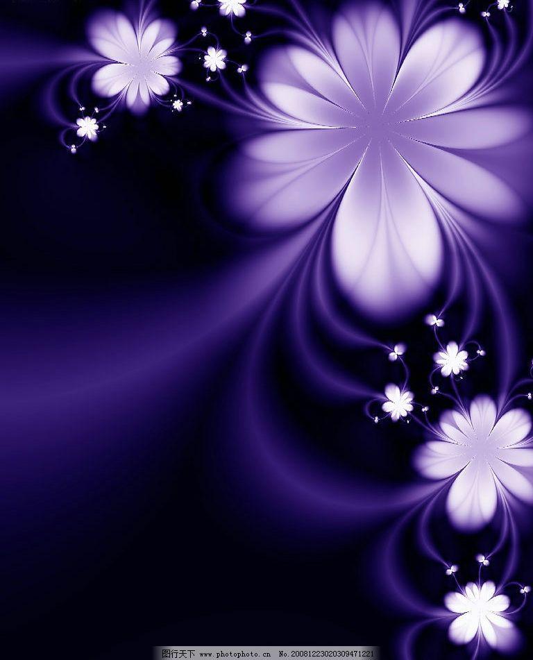紫色梦幻 花纹 底纹边框 花边花纹