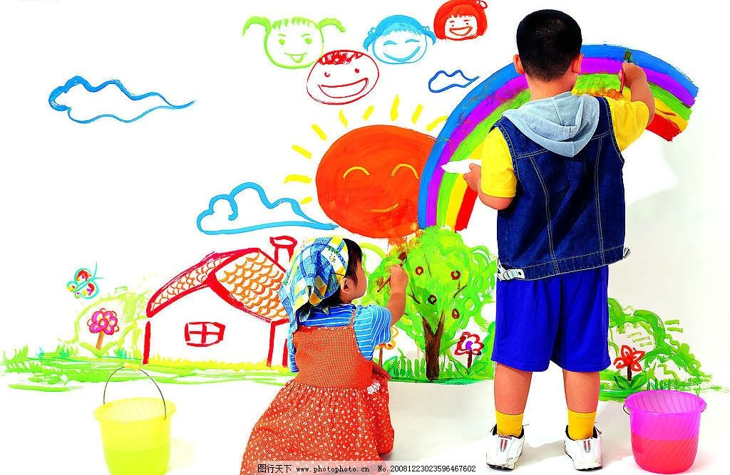 儿童可爱人物画画
