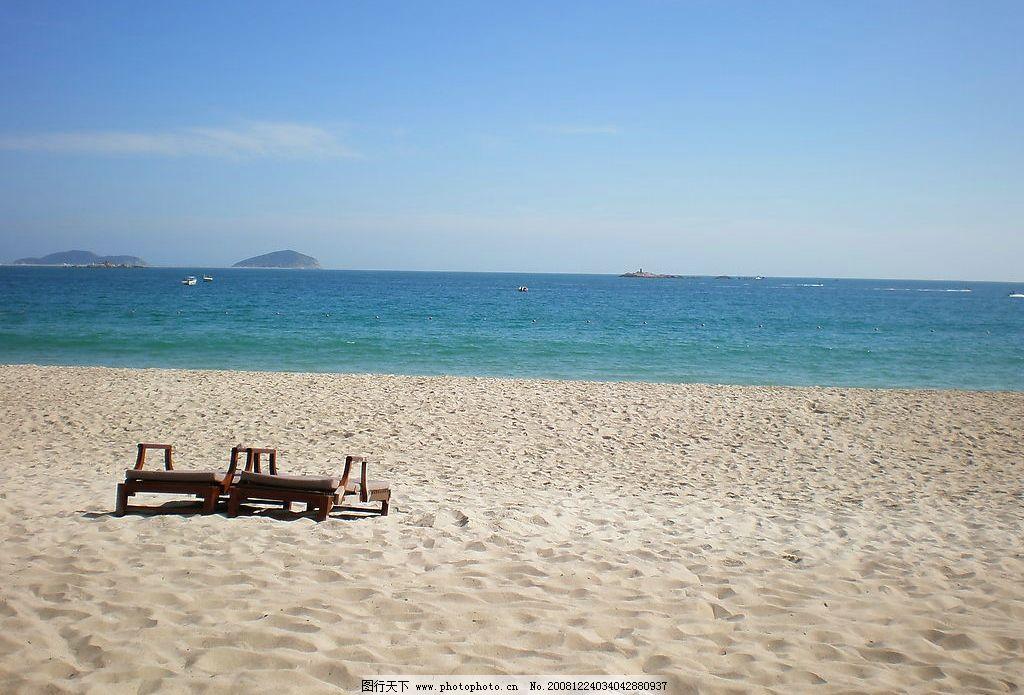 蓝天碧海白沙三亚亚龙湾图片