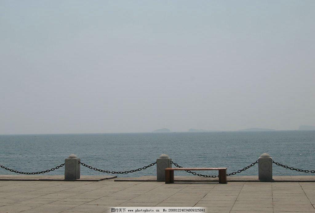 海护栏 海边 护栏 夏日海边 自然景观 自然风景 摄影图库 180dpi jpg