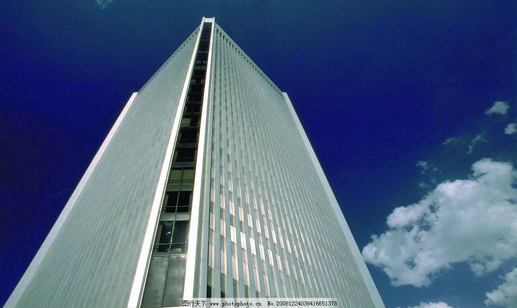 楼房 高楼 天空 白云 标志 建筑 风景 精美 背景 自然 清新
