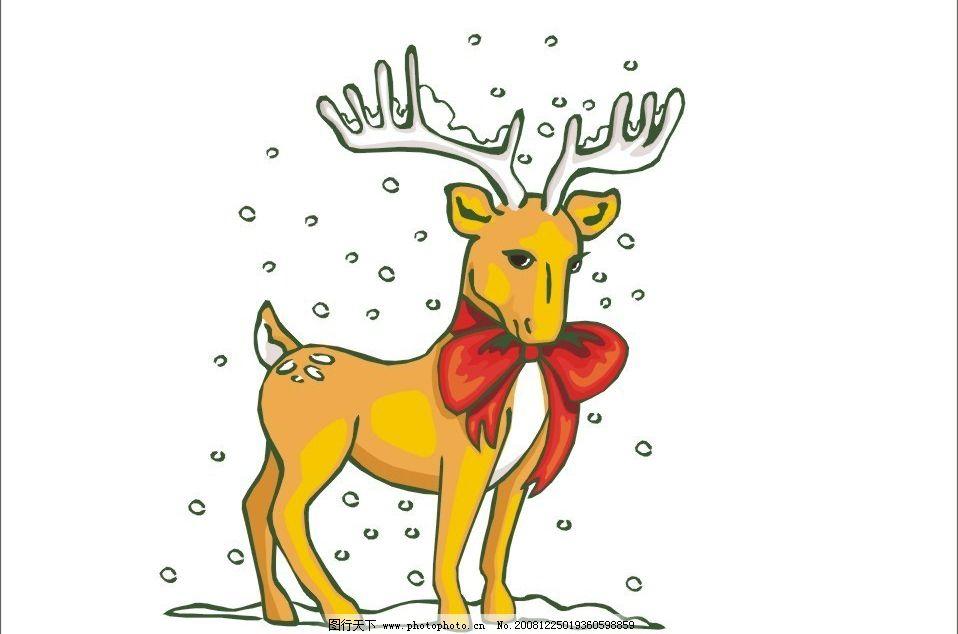 圣诞小鹿 圣诞 小鹿 节日素材 圣诞节 矢量图库 cdr