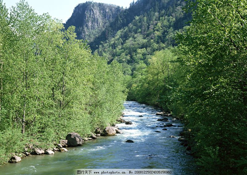 自然风景 瀑布水源