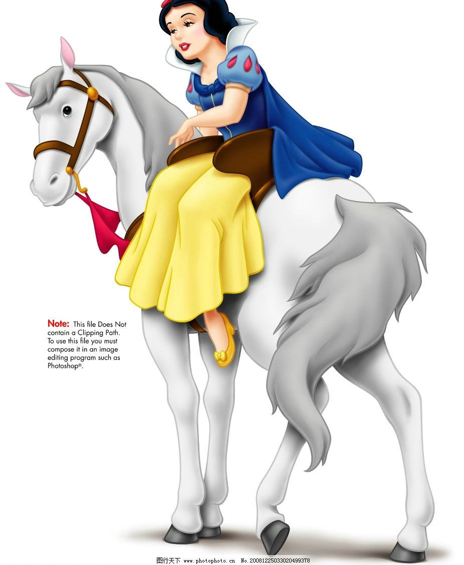 《白雪公主》系列之公主骑白马 psd分层素材 源文件库 300dpi psd