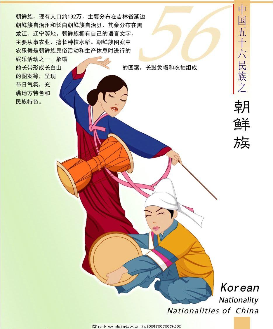 56个民族 朝鲜族 民族文字介绍 psd分层素材 源文件库 150dpi psd