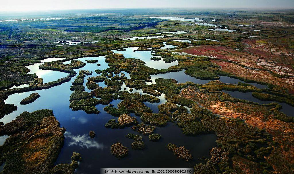 纳林湖 湖泊 梯田 草原 风景 绿地 水滩 远山 自然景观 其他 摄影图库