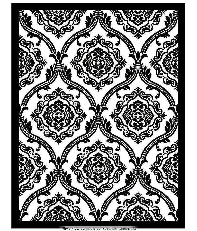 欧式古典地毯花纹图片