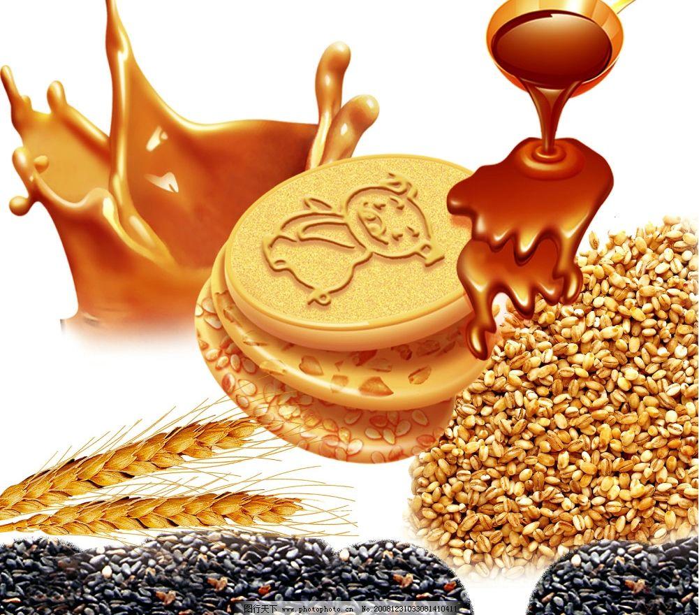 小麦黑芝麻巧克力饼干 psd分层素材 源文件库 300dpi psd 牛奶 稻穗